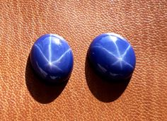 2 Pieces Lot Blue Star Sapphire gemstone 18.25 cts 12x13 To