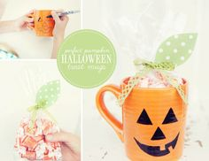 m sharing a quick and simple Halloween DIY that can be put together last minute as a treat for friends or teachers this year. These little halloween tre Halloween Party Treats, Halloween Photos, Halloween Movies, Holidays Halloween, Spooky Halloween, Halloween Pumpkins, Halloween Decorations, Halloween Nails, Holiday Crafts