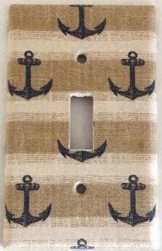 Anchor Nautical Marine Design Houseware Bedroom Bathroom Wall Decor Light Switch #Leviton