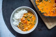 Roasted Red Pepper, Chickpea and Spinach Curry