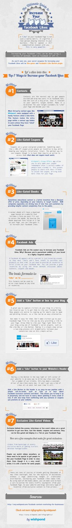 The ultimate guide to increase your FaceBook Likes #infographic