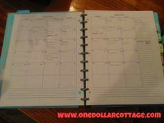 make your own planner.