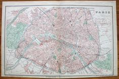 Plan de Paris - Antique Maps and Charts – Original, Vintage, Rare Historical Antique Maps, Charts, Prints, Reproductions of Maps and Charts of Antiquity