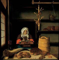 Bakery with a Lacemaker (Job Adriaensz Berckheyde, 1665/75, Frans Hals Museum, Haarlem)