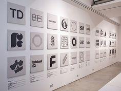 Wim Crouwel's minimalistic monochrome logos