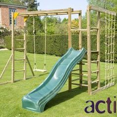 Action Climbing Frames Monkey Bars Climbing Frame with Slide | Wayfair UK