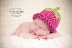 Premature preemie knitted berry tiny baby hat  by TheYarnOwlsNest