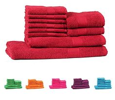 Trident Light and Vibrant Combed Cotton 10-Pieces (Bath, Hand