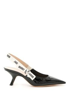55feb883bad Dior Black  amp  White Limited Edition J adior Slingback 65mm Heels In  Patent Leather