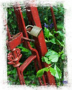'Permanent' locked iron gate -Red Bank, NJ
