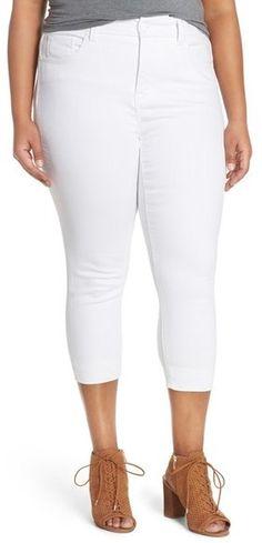 Melissa McCarthy Seven7 Stretch Crop Pencil Jeans (Plus Size)