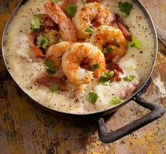 Low Country Shrimp and Grits with Jalapeno Pale Ale recipe from @WanderGourmand - Jalapeno pale ale adds an extra spice kick and brightness to this classic dish.