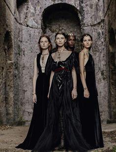 Valentino by Fabrizio Ferri for Vogue Italia #dark #fashion #editorial