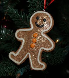 Customizable Handmade Gingerbread Man Ornament. $6.00, via Etsy.