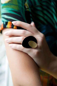 Petal Ring-Handcrafted Enameled Ring by yukabyguliz on Etsy