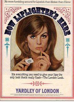 vintage makeup ad | Jean Shrimpton in vintage advertising
