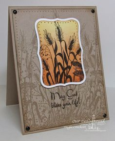 ODBD Wildflower Silhouette Background, ODBD Life is a Gift, Card Designer Angie Crockett ... colorful silhouette image on tone on tone kraft ....