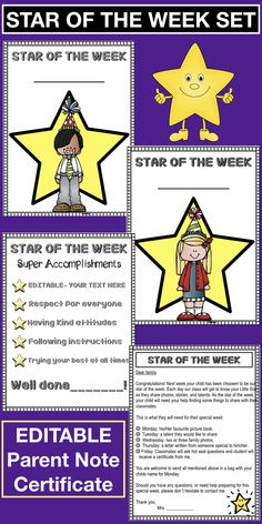 Have you been considering parenting classes? Sometimes the classes do not fit perfectly in everyone's' da… 100 Days Of School, Beginning Of School, Notes To Parents, Parent Notes, 3 Year Old Preschool, Education Certificate, Behavior Reflection, Student Of The Week, Star Of The Week