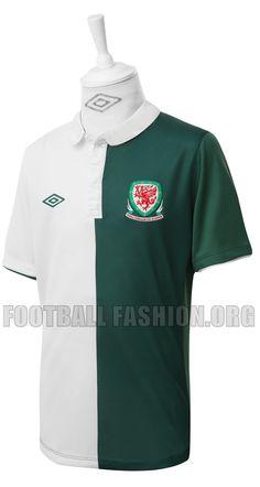 Wales 2012 13 Umbro Away Kit. Soccer Jerseys ... 09676def8ed47