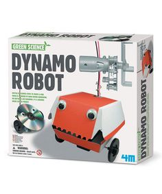 Bitty builders can construct their own recycled robot with this eco-friendly, engaging kit. Featuring a battery-free chomping cyborg that's powered by a turn-crank engine and decorated using household items, it puts tiny tinkerers on the path to creating the next mean, green mighty machine.
