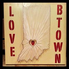 "20"" x 20"" Love Btown **IU** string board"