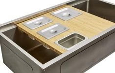 Our single bowl kitchen sink is made of 16 gauge stainless steel with an offset drain right. It features a seamless drain and built in ledge for food prep. White Kitchen Cabinets, Painting Kitchen Cabinets, Kitchen Paint, Ikea Kitchen, Kitchen Design, Kitchen Countertops, Kitchen Ideas, Kitchen Appliances, Kitchen Sinks