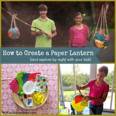 Learn how to create a lantern out of nothing more than tissue paper, a balloon and glue. Your kids will welcome the night toting their very ...
