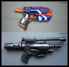 Nerf Firestrike: Before and After #Nerf #Modding #Blaster #DIY #StarWars