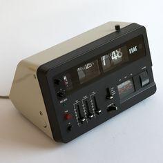 RD200 Alarm Clock Radio by Elac (1971)