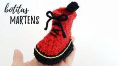 MINI MARTENS - botitas para bebé a crochet | Ahuyama Crochet