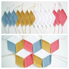 Aha! Exactly what I was thinking! A crochet version of the classic quilted/knit 3D Blocks blanket.