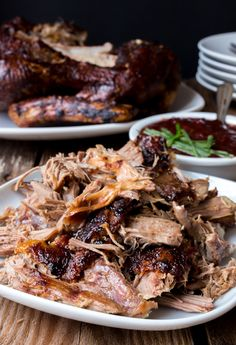 Pulled Duck with Sririacha plum sauce - The easiest way to make, slow-cooked, fall apart duck with crispy skin