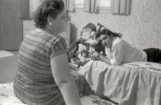Heart to Heart: 1956. Elvis Presley at home with his mom in Memphis.