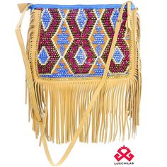 ClutchChila: Wayuu handwoven clutch embellished with crystals and leather fringes  #LuxuryMochilas #LUXCHILAS  Details: shop.luxchilas.com (Link in profile) • • • #handmade #handbags #fairtrade #crystals #leather #fringes #bohemian #wayuubags #tassel #pompom #miami #unique #exclusive  #happy #bold #giveback #sun #luxury  #luxurylife #bohochic #gypsy #fashion #accessories #wayuuhat #wayuu #boutique #showroom #shopluxchilascom