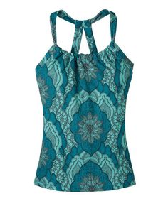 Take a look at this Capri Blue Scallop Quinn Double Racerback Tank by prAna on #zulily today!