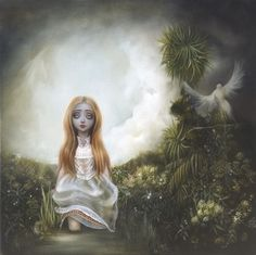 Ophelias choice by Sarah Dolby Modern Artists, Contemporary Artists, Different Art Styles, Romance, Southern Gothic, Lowbrow Art, Pop Surrealism, Famous Artists, Artist Painting
