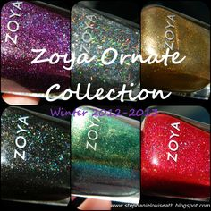 Bottle Shots of the Zoya Ornate Collection for Winter 2012-2013 from Stephanie Louise- All Things Beautiful http://stephanielouiseatb.blogspot.com/2012/10/zoya-ornate-winter-collection-bottle.html