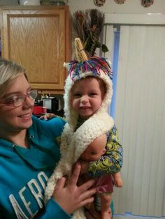 Adorable unicorn hoodie with scarf sleeves