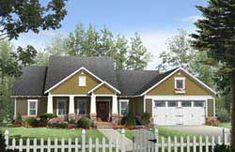 MonsterHousePlans - 2-263 Craftsman Cottage, Craftsman Style House Plans, Cottage House Plans, Cottage Homes, Craftsman Exterior, Craftsman Ranch, Craftsman Houses, Cottage Style, Craftsman Columns
