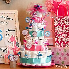 This special diaper cake is a gift — and a fun guessing game