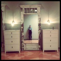 antique door for mirror