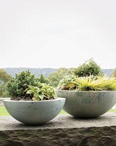 diy: hypertufa bowl planters...