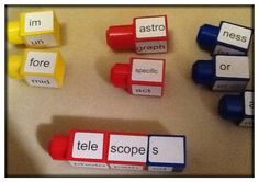 Build a Word: Prefix, suffix and Root Word Towers Could be used for compound words?