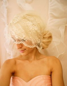 lace birdcage veil... so lovely!