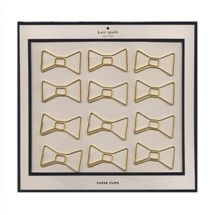 gold bow paper clips