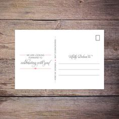 Modern Save the Date Postcard Save-the-Date by LarissaKayDesigns