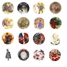 Folie du Jour Bottle Cap Images: Christmas Bottle Cap Images
