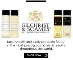 Gilchrist & Soames is a leading provider of luxury toiletry collections for world-class hotels, exclusive resorts, and distinguished spas, inns, and bed & breakfasts. Specializing in servicing the luxury market, Gilchrist & Soames' products can be found in discerning properties throughout the world.  Our fine toiletries, exacting customer service and commitment to environmental stewardship make us a dedicated partner who shares your passion for luxury and service. $0.00 USD
