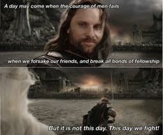 """On teamwork:   16 """"Lord Of The Rings"""" Quotes That Will Make You Swell With Hope"""