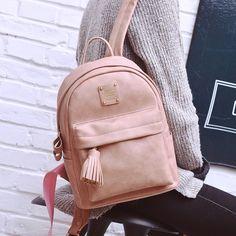 $39.12 (Buy here: https://alitems.com/g/1e8d114494ebda23ff8b16525dc3e8/?i=5&ulp=https%3A%2F%2Fwww.aliexpress.com%2Fitem%2FLEFTSIDE-woman-backpack-fashion-2016-designers-back-pack-women-leather-backpack-for-school-girl-black-bag%2F32716943436.html ) LEFTSIDE woman backpack fashion 2016 designers back pack women leather backpack for school girl black bag packs tassel 4 colors for just $39.12